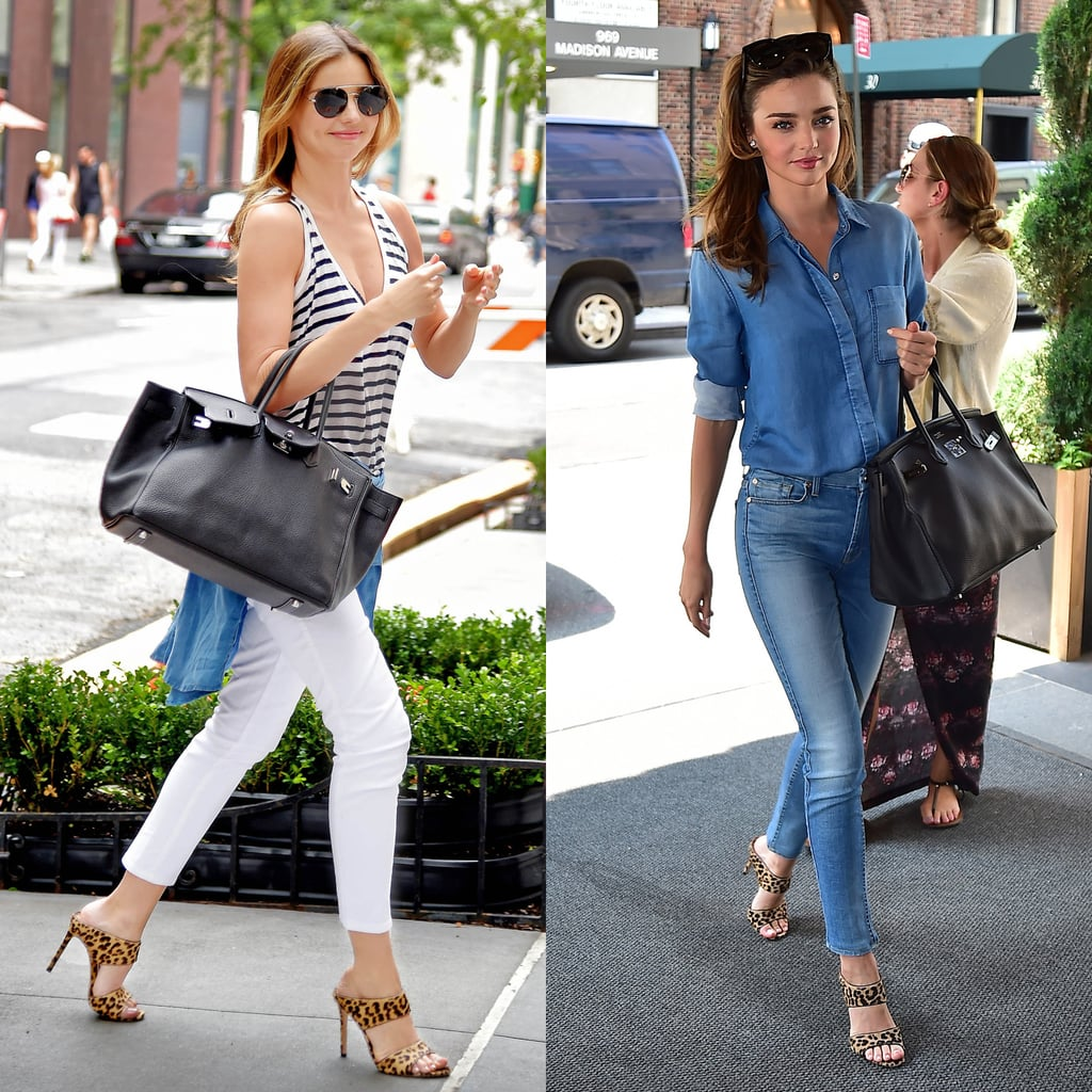 - Miranda Kerr Repeats Her Outfits For Street Style POPSUGAR Fashion