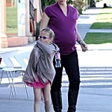 Jennifer Garner took Violet Affleck to a dance class.