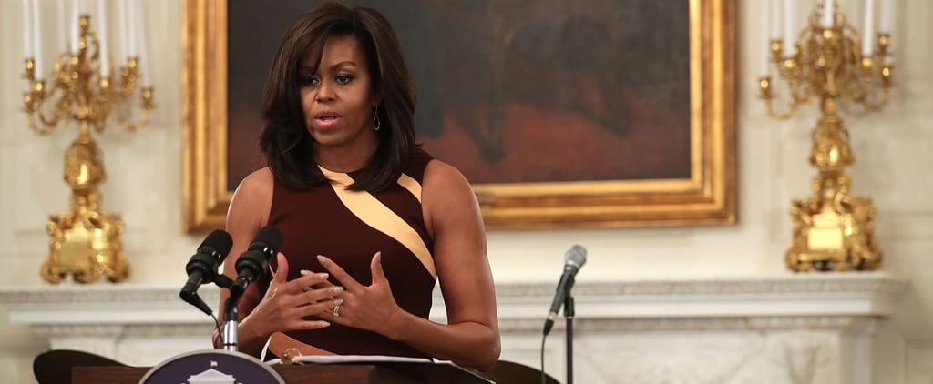 Michelle Obama Narciso Rodriguez Dress April 2016