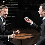 LOL! David Beckham Smashes Raw Eggs on His Head