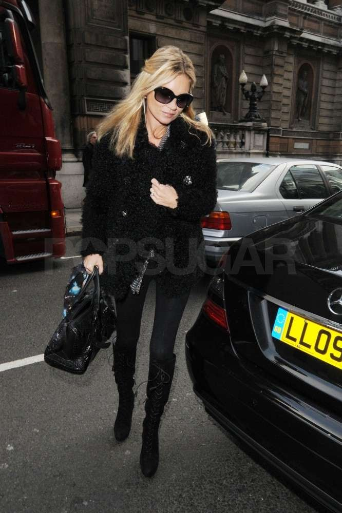 Kate Moss went shopping in London.