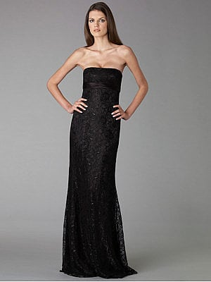 Badgley Mischka Platinum Label - Lace Strapless Gown - Saks.com