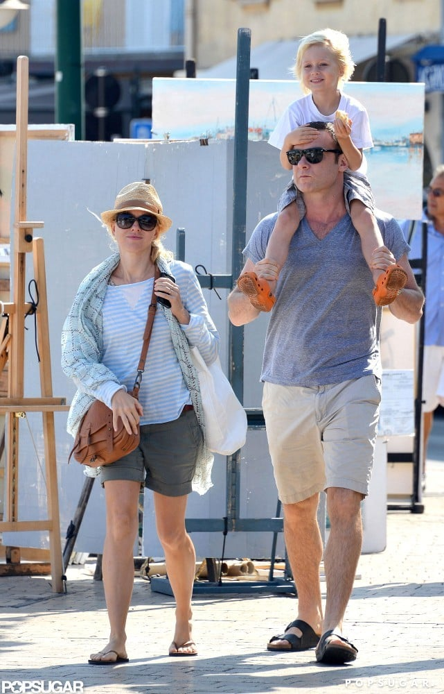 Naomi Watts and Liev Schreiber enjoyed a day in the South of France.
