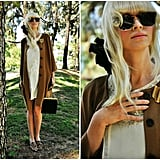 Dress up your tea-time outfit with costume jewelry and leopard-print loafers. Photo courtesy of Lookbook.nu