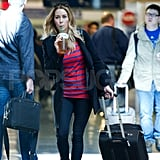 Lauren Conrad caught a flight out of LAX.