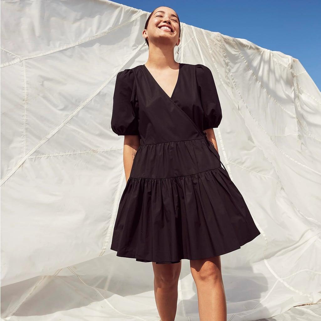 Perfect Summer Dress: Puff-sleeve Cotton Poplin Wrap Dress
