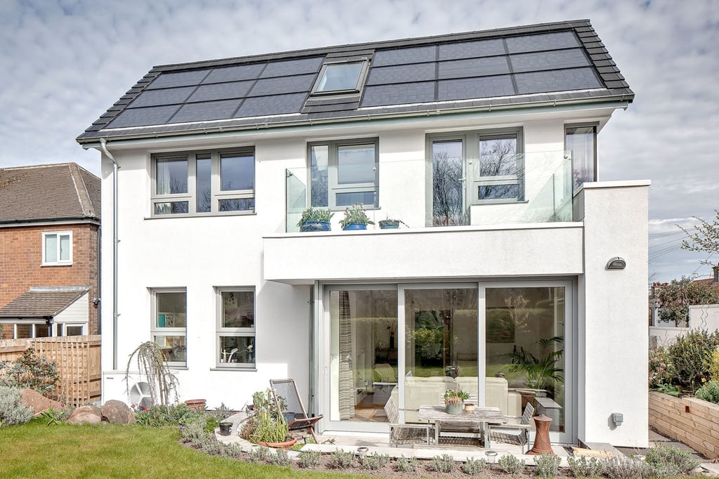 Affordable Solar Panel House