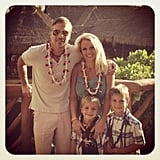Britney and her boys went on vacation in Hawaii with her then-fiancé Jason Trawick.