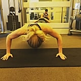 After admitting she ate a huge cookie for breakfast, Ellie's trainer made her do press ups and dips.