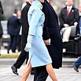 Melania's Baby Blue Inauguration Heels