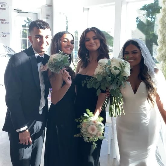 Selena Gomez's Black Bridesmaid Dress