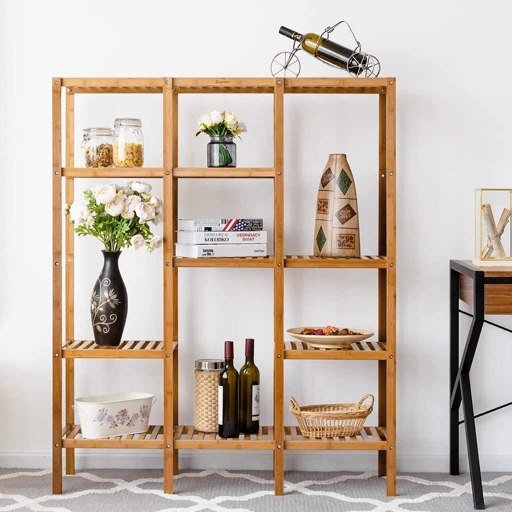 Multifunctional Bamboo Shelf Rack Organizer