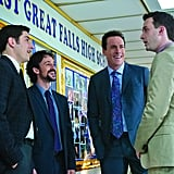 Jason Biggs as Jim, Thomas Ian Nicholas as Kevin, Chris Klein as Oz, and Eddie Kaye Thomas as Finch in American Reunion.  Photo courtesy of Universal Pictures