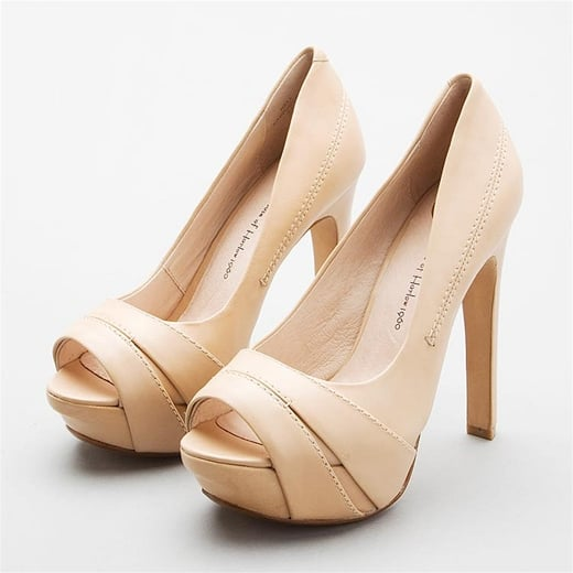 Chic and Summery Nude Pumps