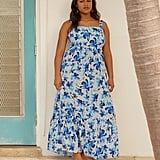 ELOQUII Tie-Back Tiered Dress