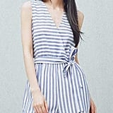 Mango Outlet Striped Cotton Jumpsuit
