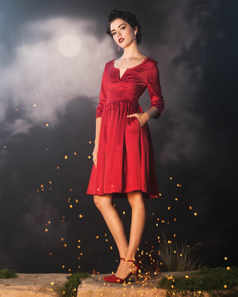Claire Red Party Dress 80-89  Outlander Hot Topic Collection  Popsugar Love -5552