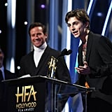 Timothée Chalamet and Armie Hammer at Hollywood Film Awards