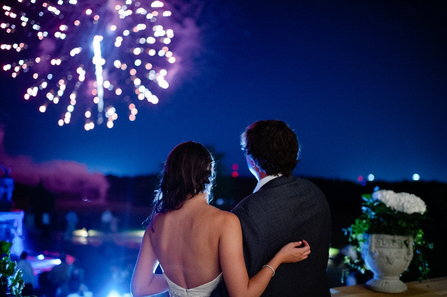 This Auburn wedding wowed with a gorgeous fireworks display.