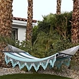 Macrame Striped Fringe Hammock Chair