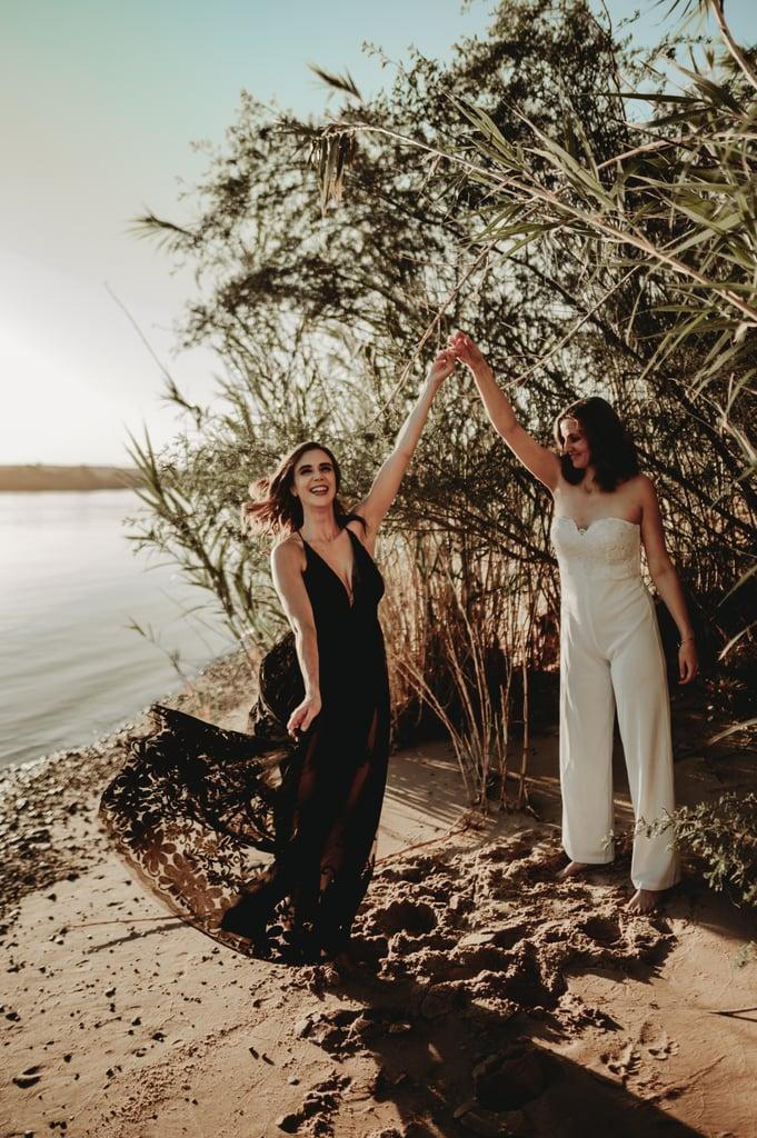 Sexy River Beach Engagement Photo Shoot