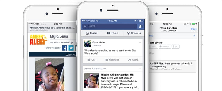 You'll Now See Amber Alerts in Your Facebook News Feed