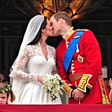 Will and Kate's most famous public display of affection was the kiss they shared on the balcony of Buckingham Palace after their wedding in April 2011.