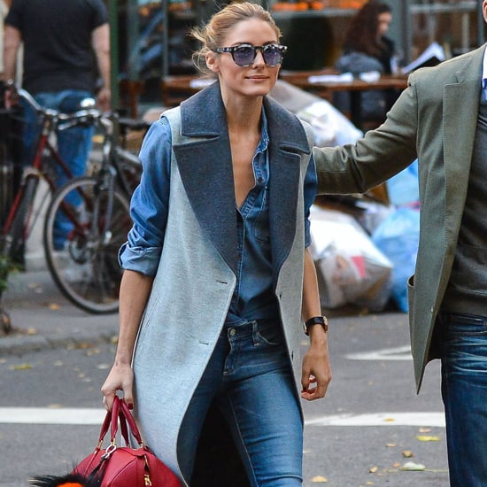 Olivia Palermo Wearing Jeans and a Vest