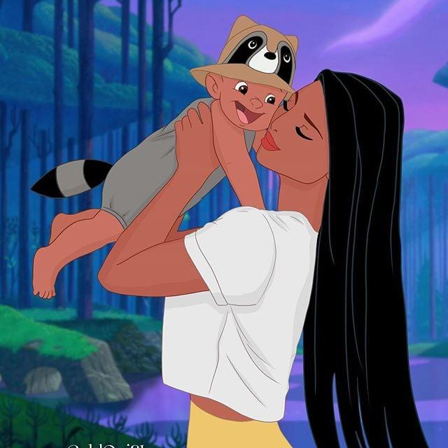 Pocahontas as a Mom