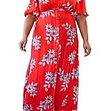 Marée Pour Toi Button-Front Floral Maxi Dress