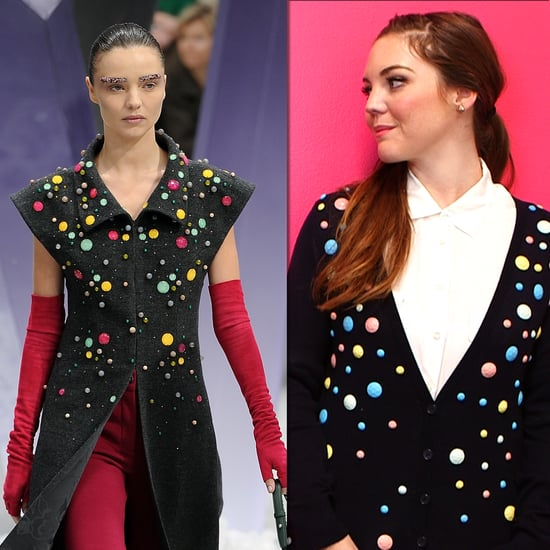 DIY: Jazz Up a Cardigan With Candy-Colored Gems à la Chanel