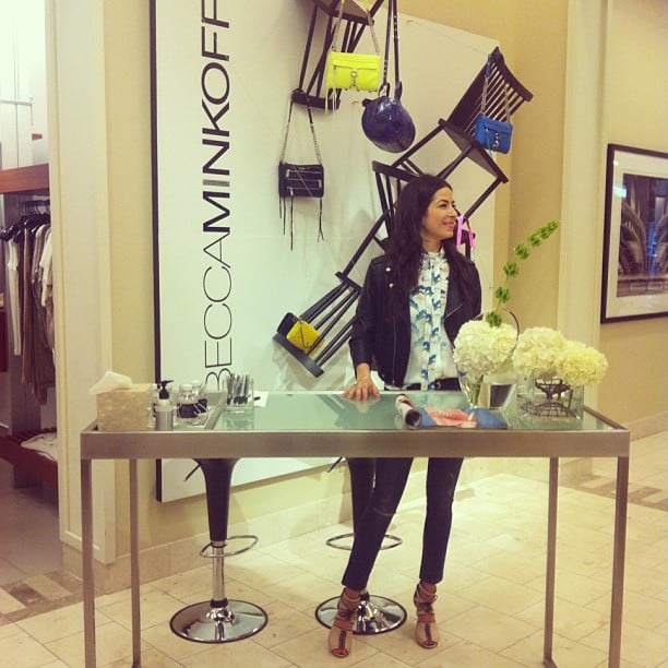 Rebecca Minkoff hosted a girls' night out at Saks Fifth Avenue. Source: Instagram user rebeccaminkoff