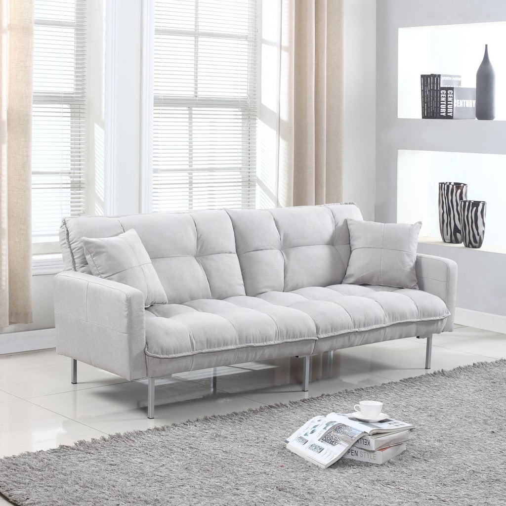 Latitude Run Winslow Plush Tufted Convertible Sofa