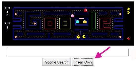 Google Logo Changed Into Pac-Man Game