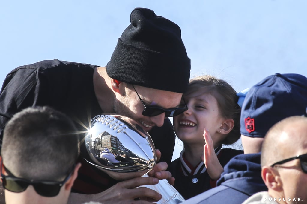 Tom Brady and His Family at 2019 Super Bowl Parade | POPSUGAR Celebrity