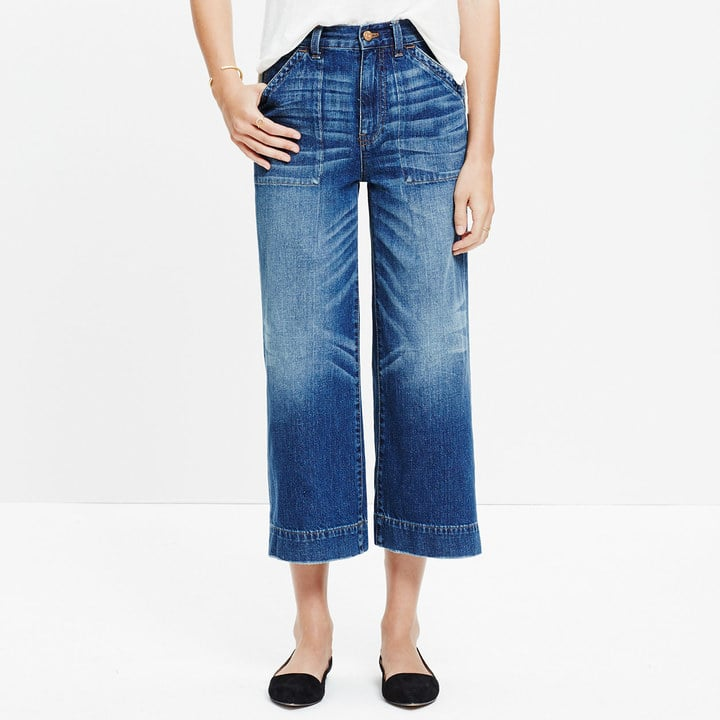 Madewell Wide-Leg Crop Jeans ($128)