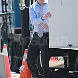 Channing Tatum left his trailer on the NYC set of The Bitter Pill.