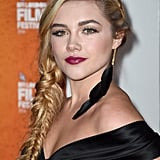 Florence Pugh's Messy Side Braid, 2014