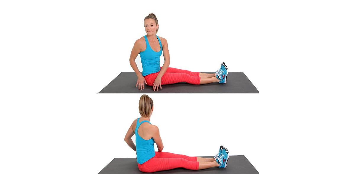 Seated Russian Twist Popsugar Fitness