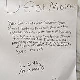 Moses Martin wrote his mom, Gwyneth Paltrow, a sweet note thanking her for helping to care for their bunnies and teaching him how to set up a website.