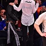 Gigi Hadid and Cody Simpson at Knicks Game April 2015