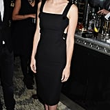 January Jones wore a gorgeous black dress from the Versace Spring '11 collection.