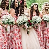 This Adorable Bride Chose Pink For Her Wedding Dress Color and We're in Love