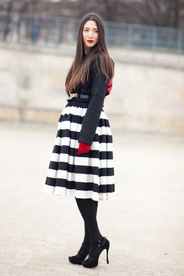 black-white-few-bright-spots-red-outfit-all