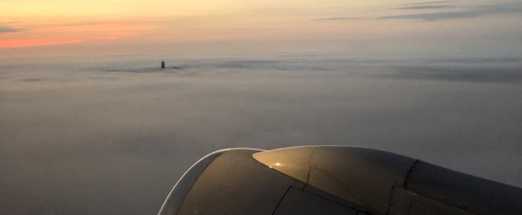 Photo of the Freedom Tower From the Sky on Sept. 11, 2018