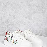 Forever 21 Flower Embroidered Sneakers