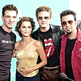 Justin and Keri Russell had similar hairstyles at the August 2000 Teen Choice Awards in LA.