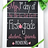 First Day of School Chalkboard