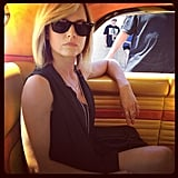 Mena Suvari showed off some chic style. Source: Instagram user mena13suvari