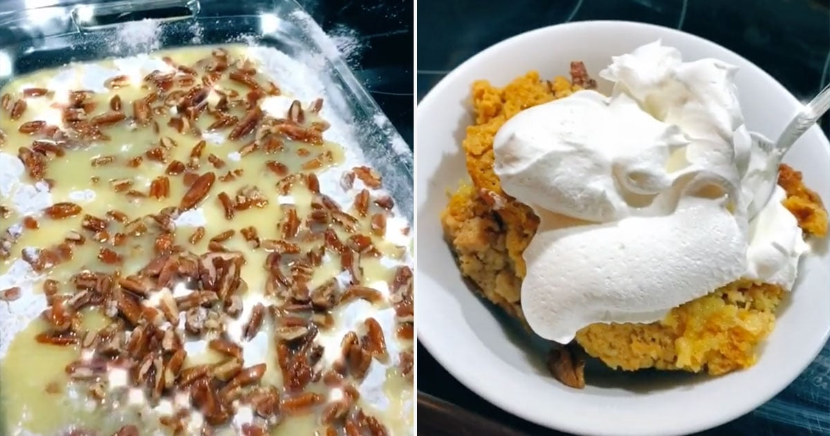 This Pumpkin Spice Dump Cake Is Taking Over TikTok, and It's Topped With an Entire Box of Cake Mix